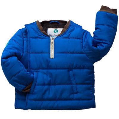 Buckle Me Baby Coat - Safer Car Seat Boys Winter Jacket - Deepest of Oceans Blue - Size 2T