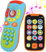 JOYIN My Learning Remote and Phone Bundle with Music, Fun, Smartphone Toys for Baby, Infants, Kids, Boys or Girls Birthday Gifts, Holiday Stocking Stuffers Present