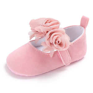 BENHERO Baby Infant Girls Soft Sole Floral Princess Mary Jane Shoes Prewalker Wedding Dress Shoes