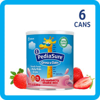 PediaSure Grow & Gain Non-GMO Shake Mix Powder, Nutritional Shake For Kids, With Protein, DHA, Antioxidants, and Vitamins & Minerals, Strawberry, 14.1 oz, 6 Count