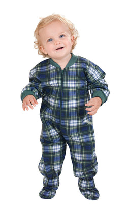 PajamaGram Infant Classic Plaid Footie Pajamas Onesies