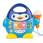 Penguin Karaoke Buddy - Toy with Microphone, Music Player with Preset Melodies and Echo Effect. for Kids Ages 18 Months Up. Play Karaoke Machine for Toddlers.
