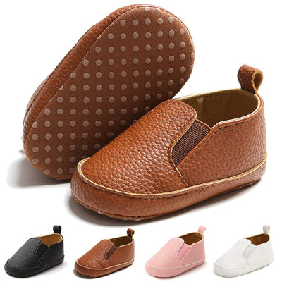 Infant Baby Boys Girls Loafers Shoes Slip On PU Leather Moccasin Sneaker Toddler First Walker Dress Oxfords Crib Shoes(0-18 Months)