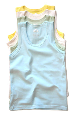 LotusComfort Premium 4 Pack Super Soft Boys Girls Unisex Kids Toddler Baby Tank Top Undershirts