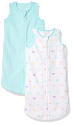 Amazon Essentials Girls 2-Pack Microfleece Baby Sleep Sack