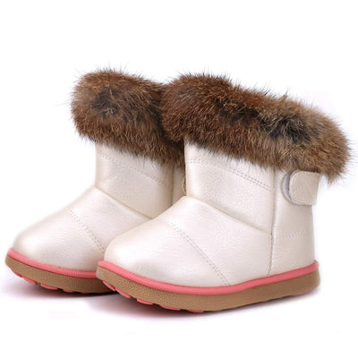 FJWYSANGU Toddler Girl Warm Winter Snow Boots Plush Inner Outdoor Boots Waterproof Snow Shoes with Wings Flat Easy on for Toddlers Little Girls