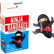 Novelty Black Ninja Shaped Bandages for Kids or Grown Ups