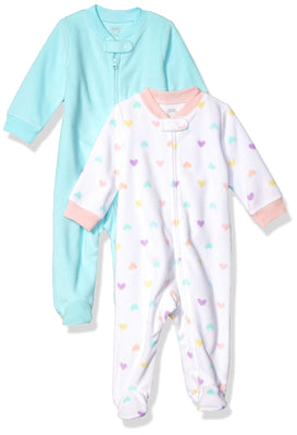 Amazon Essentials Baby 2-Pack Microfleece Sleep and Play