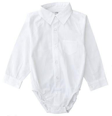 Littlest Prince Couture Infant/Toddler Dress Shirt Bodysuit