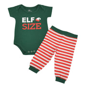 Unique Baby Unisex 1st Christmas Onesie Outfit Elf Size Layette Set