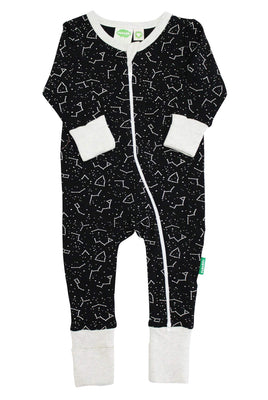 PARADE ORGANICS Signature Print '2-Way' Zip Romper - Long Sleeve