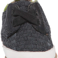 Robeez Boys' Casual Sneaker Soft Soles Crib Shoe, Denim, 6-12 Months