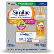 Similac pro-Sensitive Infant Formula with 2'-fl Human Milk oligosaccharide (hmo) for Immune Support, Ready to Drink Bottles, 2 Fl Oz (48Count)
