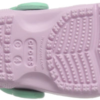 Crocs Kids' Fun Lab Unicorn Clog, Ballerina Pink/New Mint, 7 M US Toddler