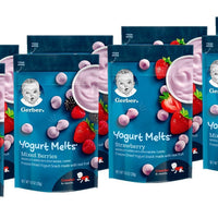 Gerber Yogurt Melts, Strawberry and Mixed Berry, 8 Count