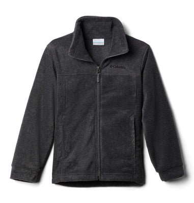 Columbia Boys' Steens Mt II Fleece Jacket, Charcoal Heather, 18/24