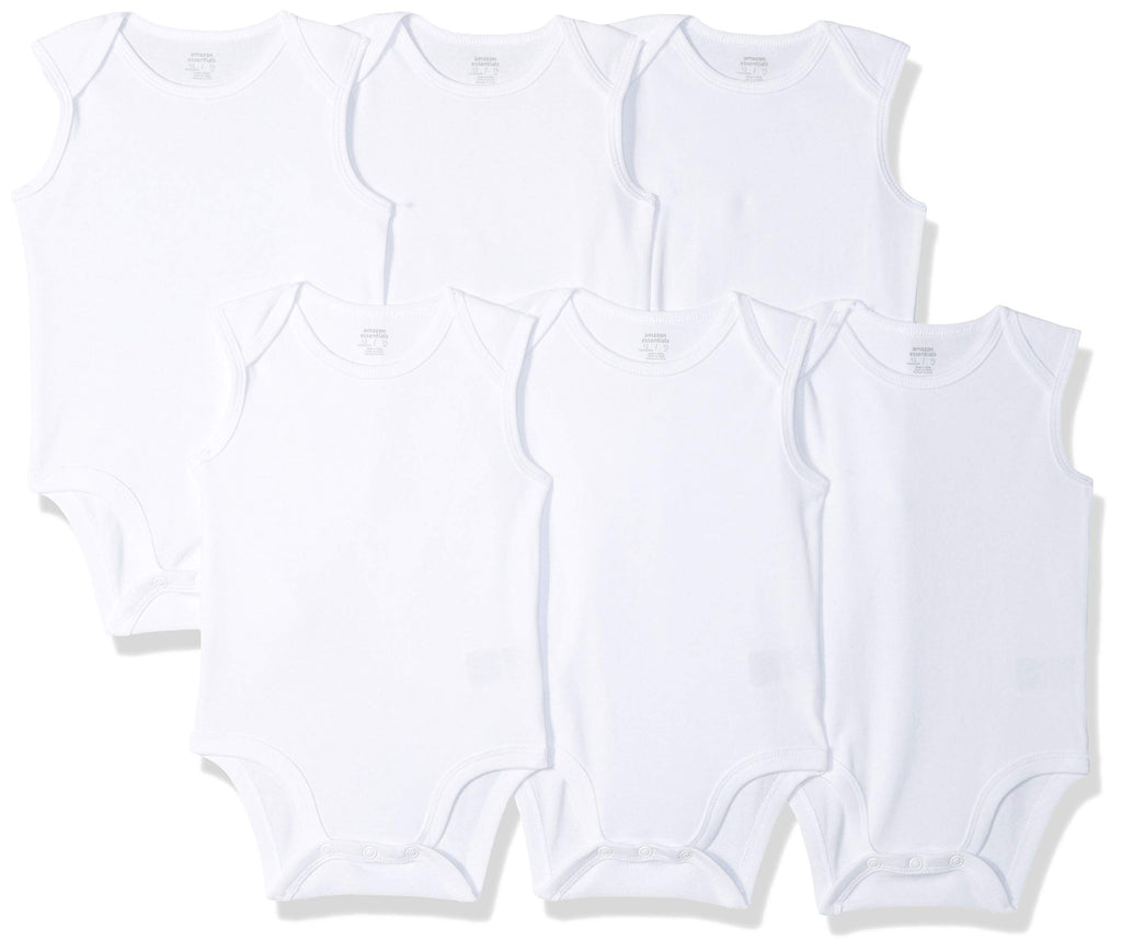 Amazon Essentials Baby 6-Pack Sleeveless Bodysuits