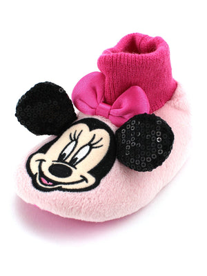 Minnie Mouse Girls Sock Top Slippers (Baby/Toddler)
