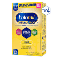 Enfamil NeuroPro Baby Formula Milk Powder Refill, 31.4 ounce (Pack of 4) - MFGM, Omega 3 DHA, Probiotics, Iron & Immune Support