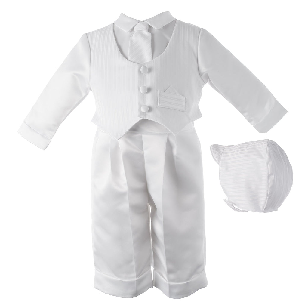 Lauren Madison Baby boy Christening Baptism Infant Satin Vest Set with Pant