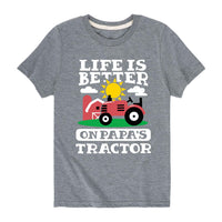 Better On Papas Tractor - Toddler Short Sleeve Tee