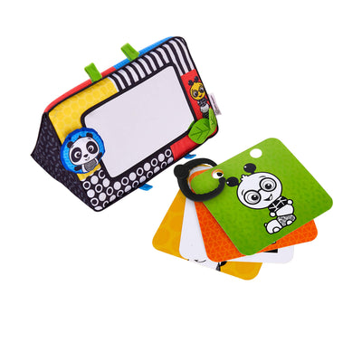 Baby Einstein Flip for Art High Contrast Floor Activity Mirror with Take Along Cards, Newborn+