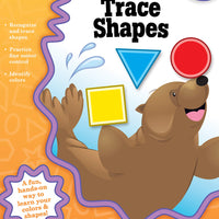 Trace Shapes Workbook, Grades Preschool - K (Big Skills for Little Hands®)