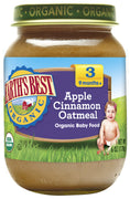 Earth's Best Organic Stage 3 Baby Food, Apple Cinnamon Oatmeal,6 oz (Pack of 12)