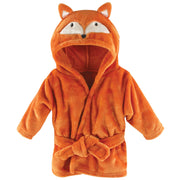 Hudson Baby Unisex Baby Plush Animal Face Robe, Fox, One Size, 0-9 Months