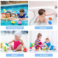 Bath Toys, 8 Pcs Light Up Floating Rubber animal Toys set, Flashing Color Changing Light in Water, CHIMAGER Baby Infants Kids Toddler Child Preschool Bathtub Bathroom Shower Games Swimming Pool Party