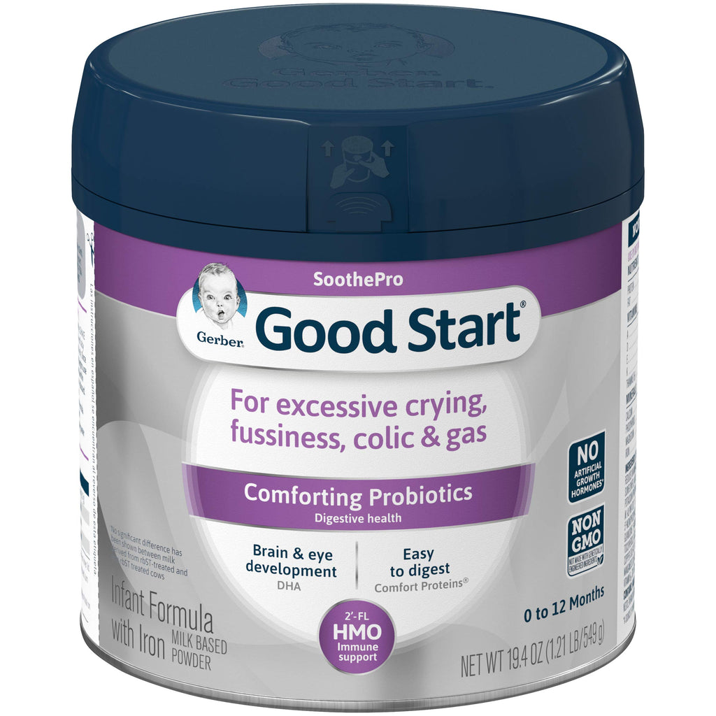 Gerber Good Start Soothe (HMO) Non-GMO Powder Infant Formula, Stage 1, 19.4 Ounces