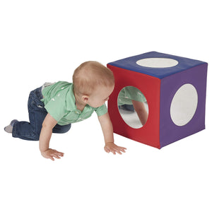 ECR4Kids SoftZone Mirror Cube - Foam Sensory Toy for Baby/Toddler Play & Self-Discovery, Assorted Colors