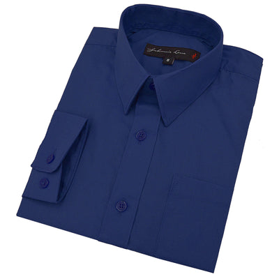Johnnie Lene Boy's Long Sleeves Solid Dress Shirt #JL32