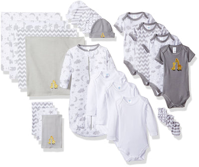 Spasilk 23-Piece Essential Baby Layette Set - Newborn Baby Clothes - Baby Boy and Baby Girl - Baby Shower Gift