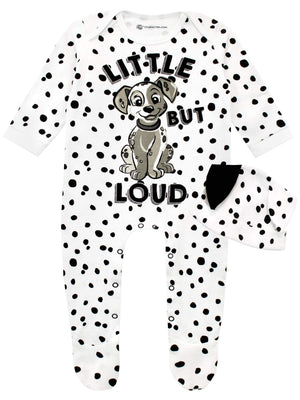 Disney Baby Girls' 101 Dalmatians Footies and Hat