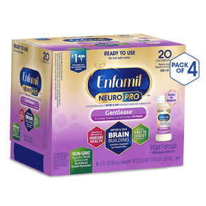 Enfamil NeuroPro Gentlease Ready to Feed Baby Formula Gentle Milk, 2 fluid ounce Nursette (24 count) - MFGM, Omega 3 DHA, Probiotics, Iron & Immune Support