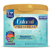 Enfamil PREMIUM Newborn Non-GMO Infant Formula - Reusable Powder Tub, 22.2 oz