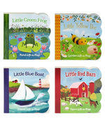 4 Pack Chunky Lift a Flap Board Books: Little Red Barn/ Little Blue Boat/Little Green Frog/Little Yellow Bee
