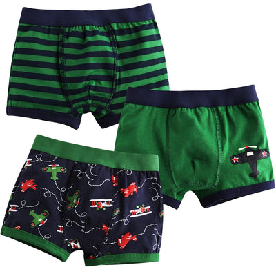 Jojobaby Baby Toddler Kids 2T-7T Boys Boxer Brief 3-Pack Underwear Set
