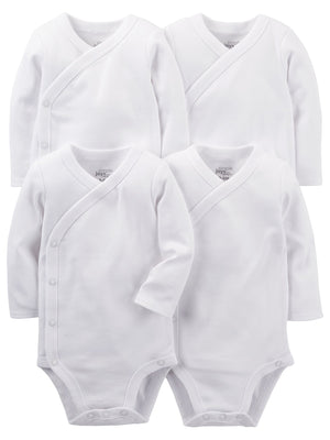 Simple Joys by Carter's Baby 4-Pack Side Snap Bodysuit
