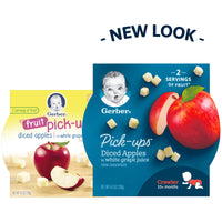 Gerber Pick-ups, Diced Apples in White Grape Juice, 4.5-Ounce (Pack of 8)