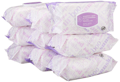 Amazon Elements Baby Wipes, Sensitive, 720 Count Flip-Top Packs