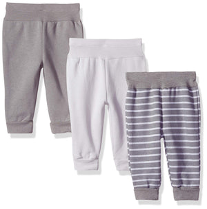 Hanes Ultimate Baby Flexy 3 Pack Adjustable Fit Fleece Joggers