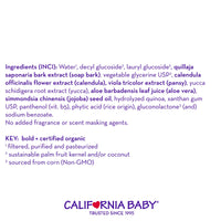 California Baby Super Sensitive Shampoo and Body Wash - Hair, Face, and Body | Gentle, Fragrance Free, Allergy Tested | Dry, Sensitive Skin, 8.5 oz.