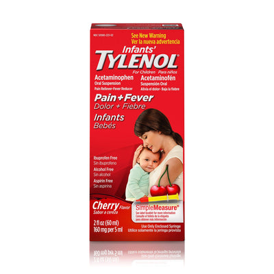 Infants' Tylenol Acetaminophen Liquid Medicine, Cherry, 2 fl. oz