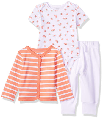 Amazon Essentials Girls' Baby 3-Piece Cardigan Set