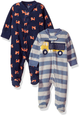 Carter's Boys' 2-Pack Microfleece Sleep and Play