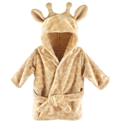 Hudson Baby Unisex Baby Plush Animal Face Robe, Giraffe, One Size, 0-9 Months
