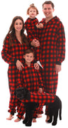 #followme Matching Adult Onesie for Family, Couples, Dog and Owner Buffalo Plaid
