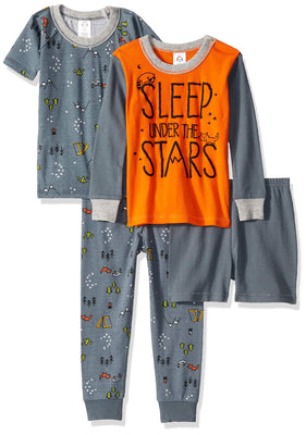 GERBER Baby Boys' 4-Piece Pajama Set
